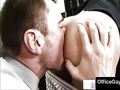 ass, lick, gay, rimjob, office