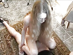 blonde, glasses, doggy, cumshot, homemade, girlfriend