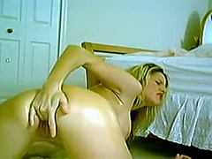 pussy, fingering, rubbing, busty, big, orgasm, masturbation, dildo, naked, tits, blonde, solo, toys, striptease